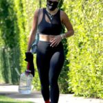 Rita Ora in a Black Workout Ensemble Leaves Her Pilates Class in West Hollywood 06/22/2021
