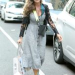 Sarah Jessica Parker in a Grey Dress Arrives at Her Store in New York 06/06/2021