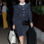 Tallia Storm in a Black Polka Dot Dress Was Seen Out in London 06/10/2021