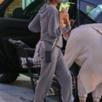 Alessandra Ambrosio in a Grey Sweatsuit Goes Shopping in Florianopolis 07/02/2021