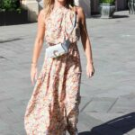 Amanda Holden in a Floral Maxi Dress Leaves the Heart Radio in London 07/16/2021