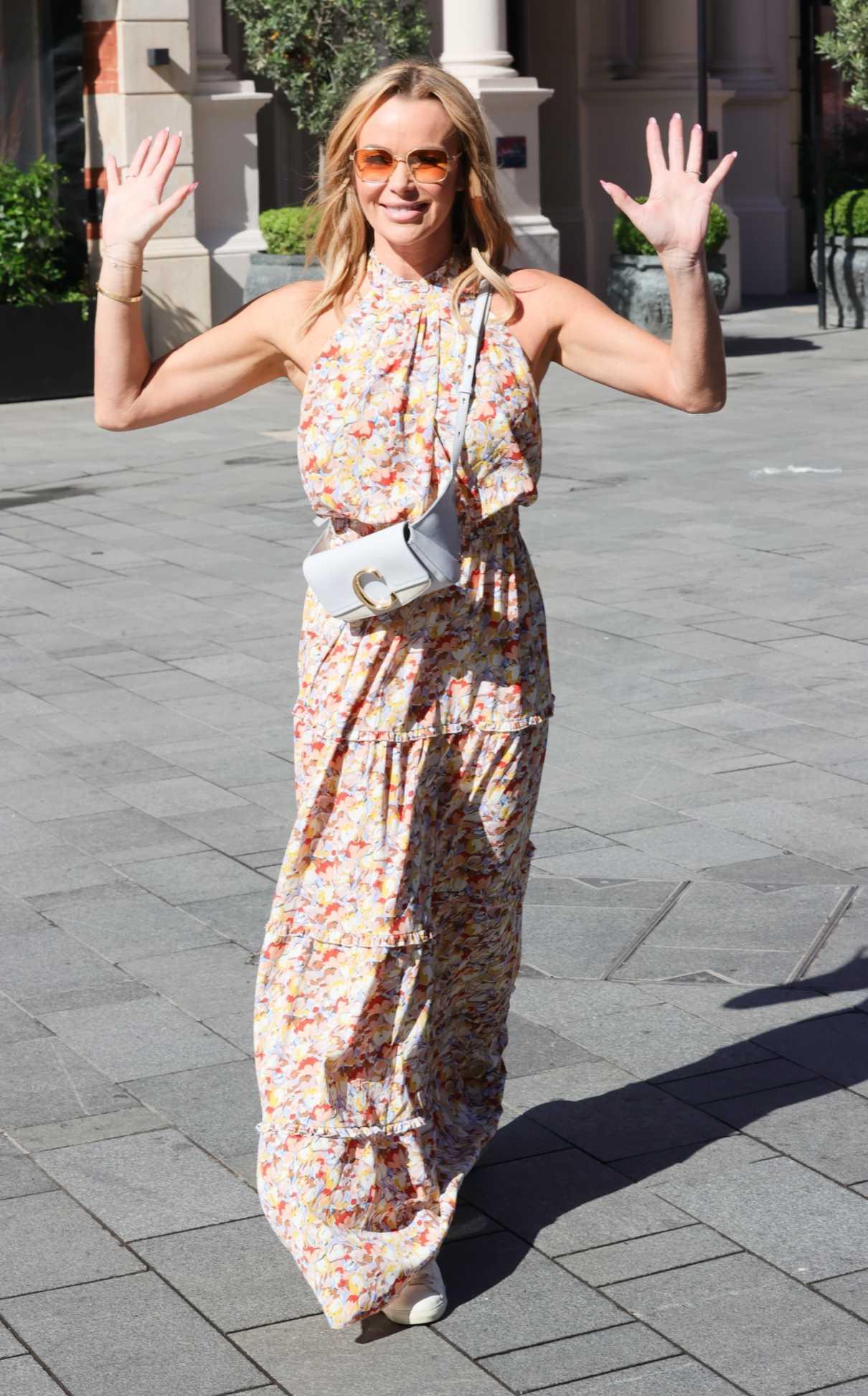 Amanda Holden in a Floral Maxi Dress
