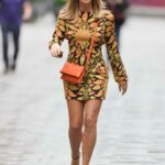 Amanda Holden in a Patterned Mini Dress Leaves the Global Radio in London 06/29/2021