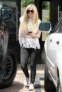 Avril Lavigne in a White Tee