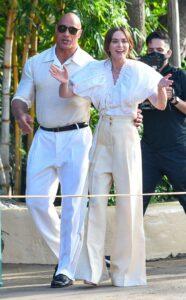 Dwayne Johnson in a White Pants