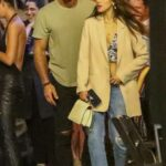 Eiza Gonzalez in a Blue Ripped Jeans Arrives at a Party in West Hollywood 07/16/2021