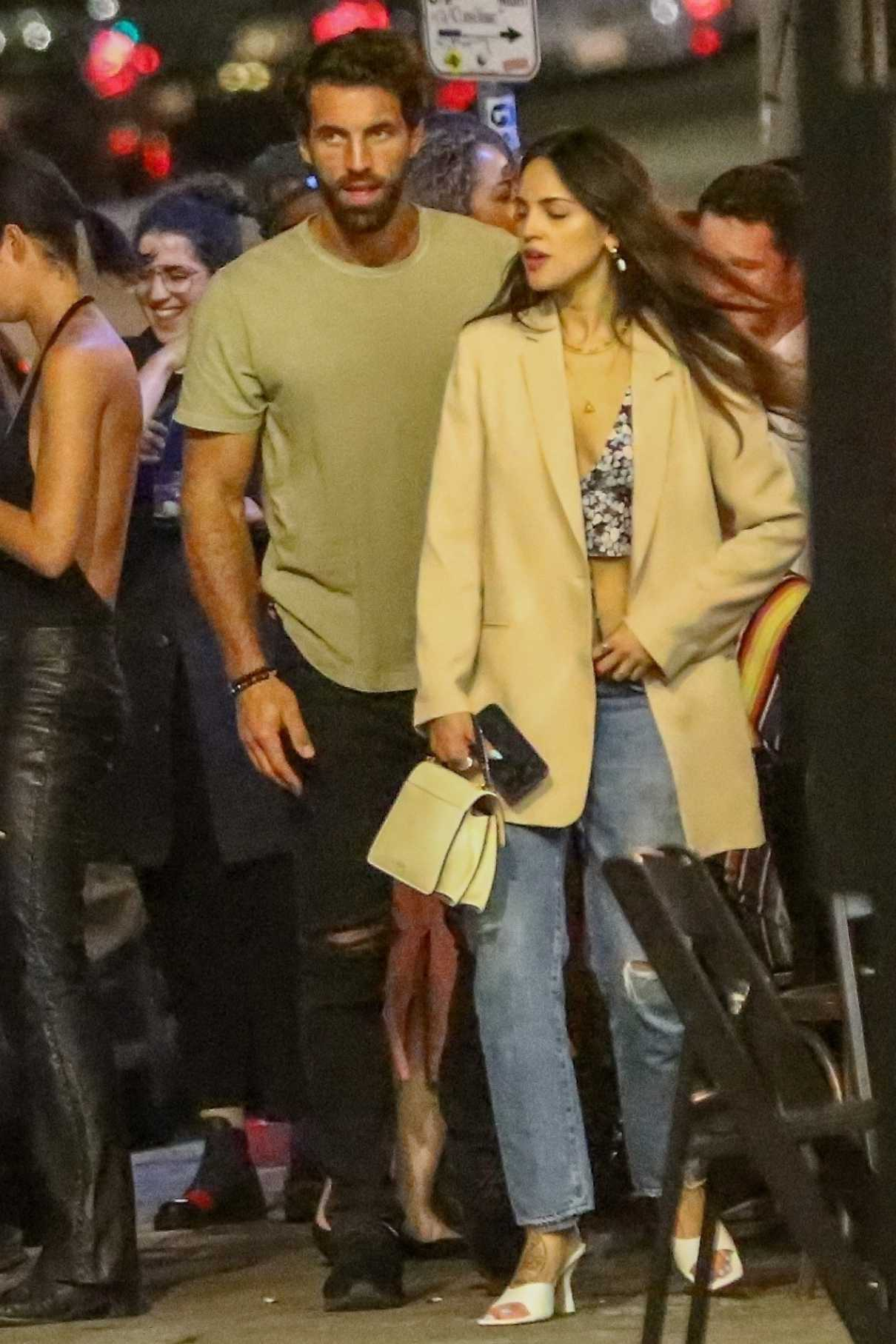 Eiza Gonzalez in a Blue Ripped Jeans