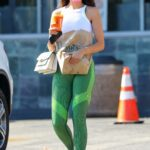 Eiza Gonzalez in a Green Leggings Goes Shopping for Groceries at Whole Foods in Los Angeles 07/21/2021