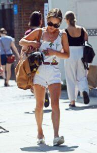 Emilia Clarke in a White Shorts