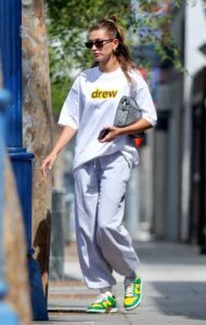Hailey Bieber in a White Tee