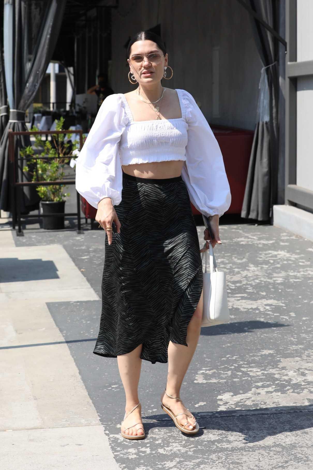 Jessie J in a White Blouse