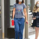Katie Holmes in a Grey Tee Was Seen Out in New York 07/26/2021