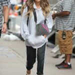 Sarah Jessica Parker in a Grey Track Jacket on the Set of And Just Like That in New York 07/14/2021