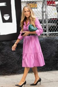 Sarah Jessica Parker in a Lilac Dress