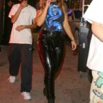 Addison Rae in a Black Pants Exits the Hyde Lounge with Friends in West Hollywood 08/12/2021