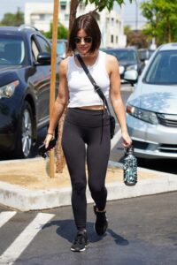 Lucy Hale in a White Tank Top