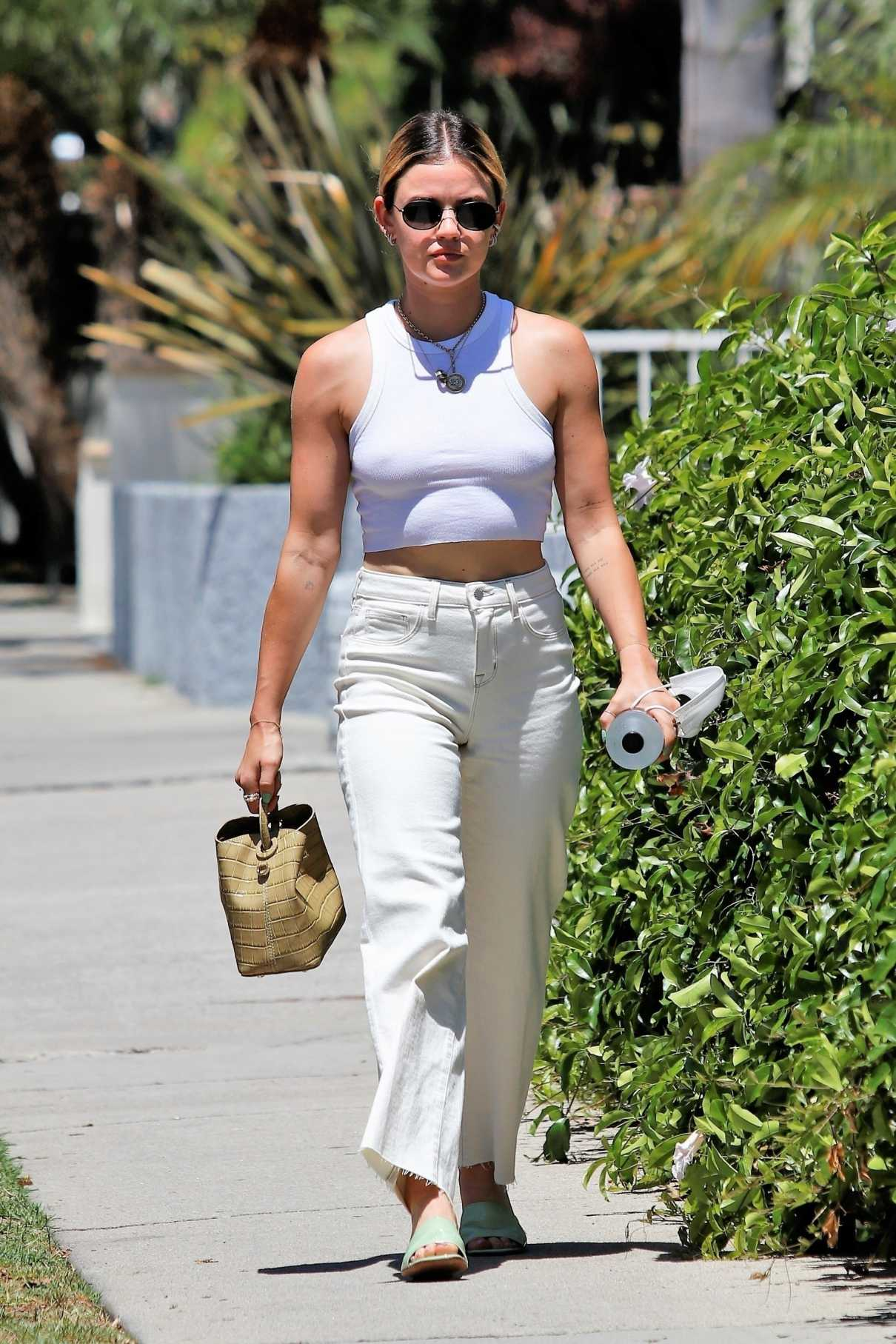 Lucy Hale in a White Top