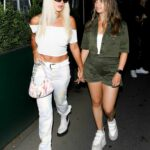 Tana Mongeau in a White Top Was Seen Holding Hands with a Mystery Brunette while Leaving Mr. Chow in Beverly Hills 08/07/2021