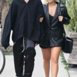 Addison Rae in a Black Leather Blazer Was Seen Out with Her New Boyfriend in West Hollywood 09/01/2021