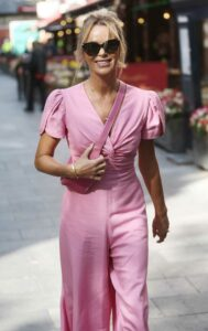 Amanda Holden in a Pink Jumpsuit