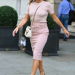 Amanda Holden in a Pink Outfit Was Seen Out in London 09/06/2021