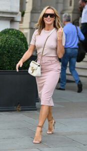 Amanda Holden in a Pink Outfit