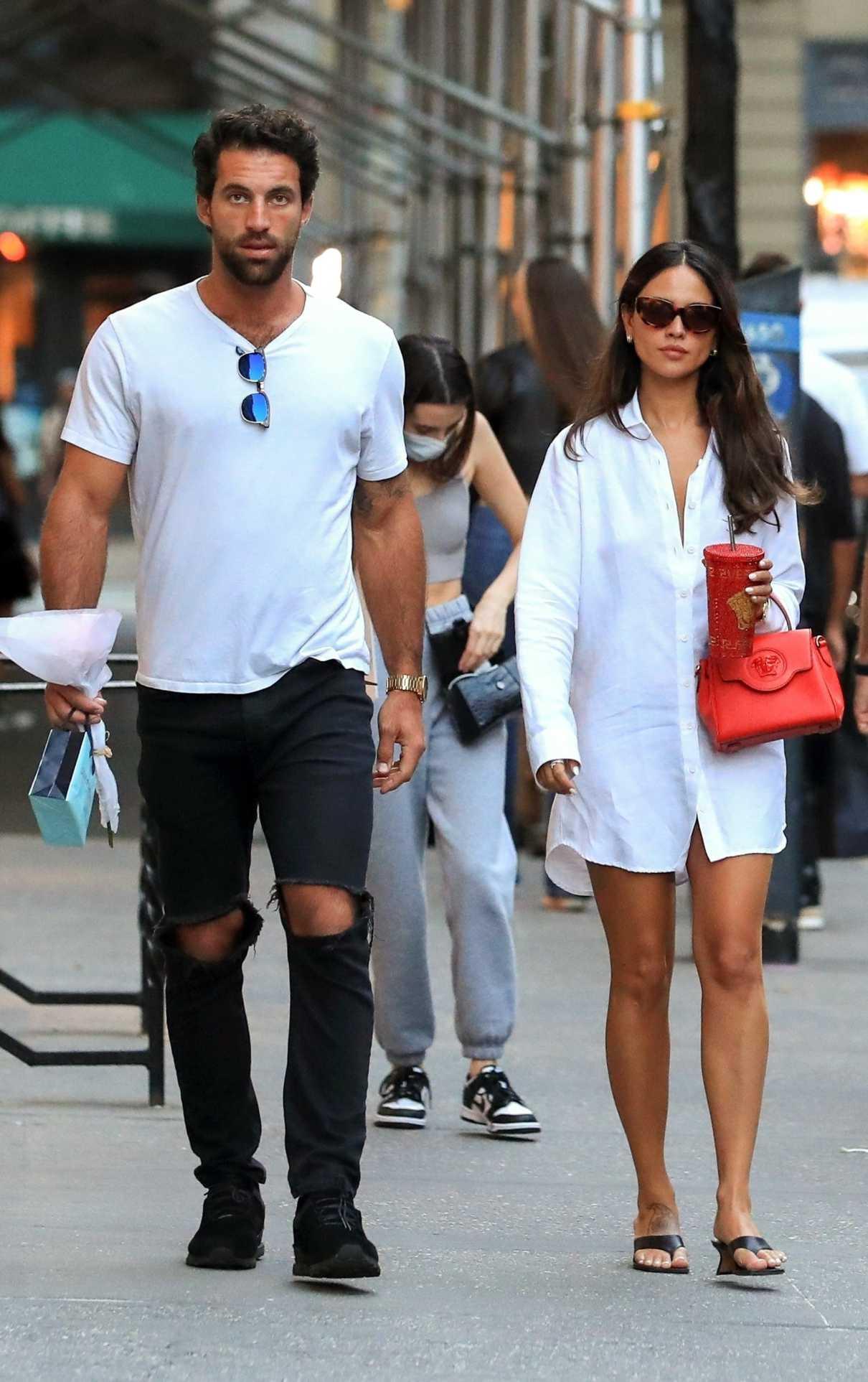 Eiza Gonzalez in a White Shirt