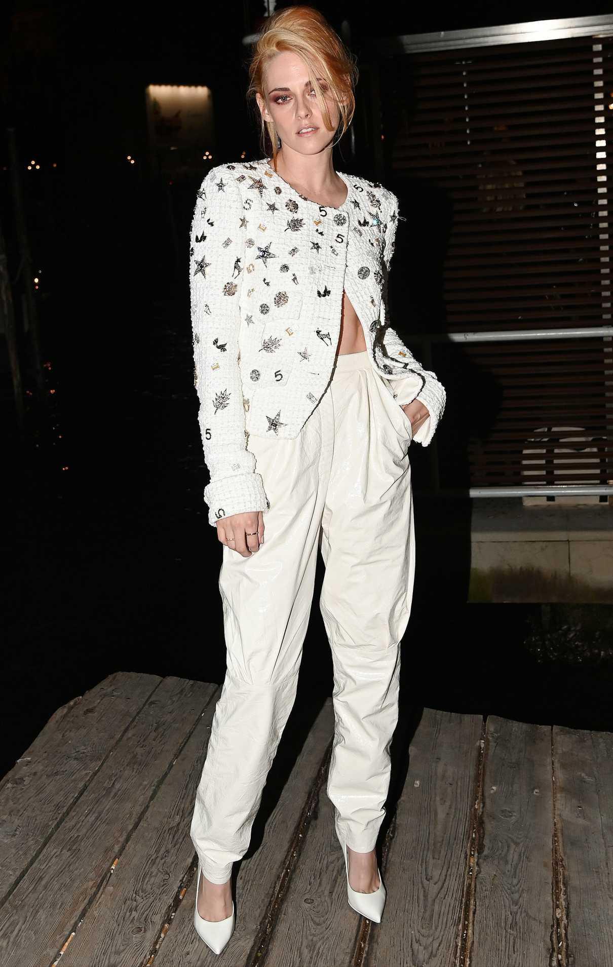 Kristen Stewart in a White Pants