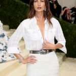 Lily Aldridge Attends 2021 Met Gala In America: A Lexicon of Fashion at Metropolitan Museum of Art in New York City 09/13/2021
