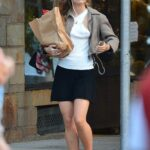 Lily-Rose Depp in a Black Mini Skirt Goes Shopping in New York City 09/02/2021