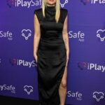Lottie Moss in a Black Dress Attends the iPlaySafe Launch Party at The Mandrake Hotel in London 09/22/2021