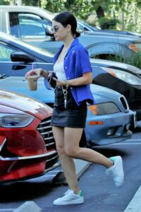 Lucy Hale in a White Sneakers
