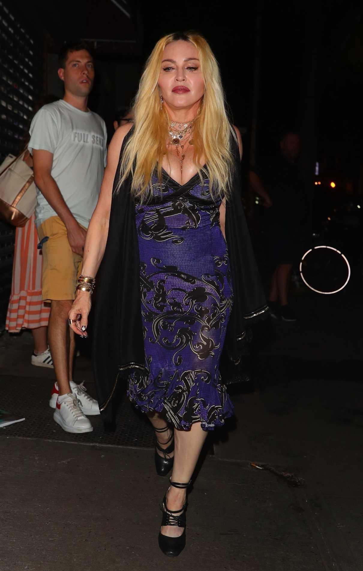 Madonna in a Purple Dress