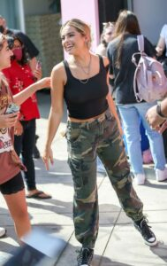 Addison Rae in a Camo Pants