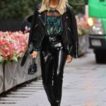 Ashley Roberts in a Black Leather Jacket Leaves the Global Radio Studios in London 10/05/2021
