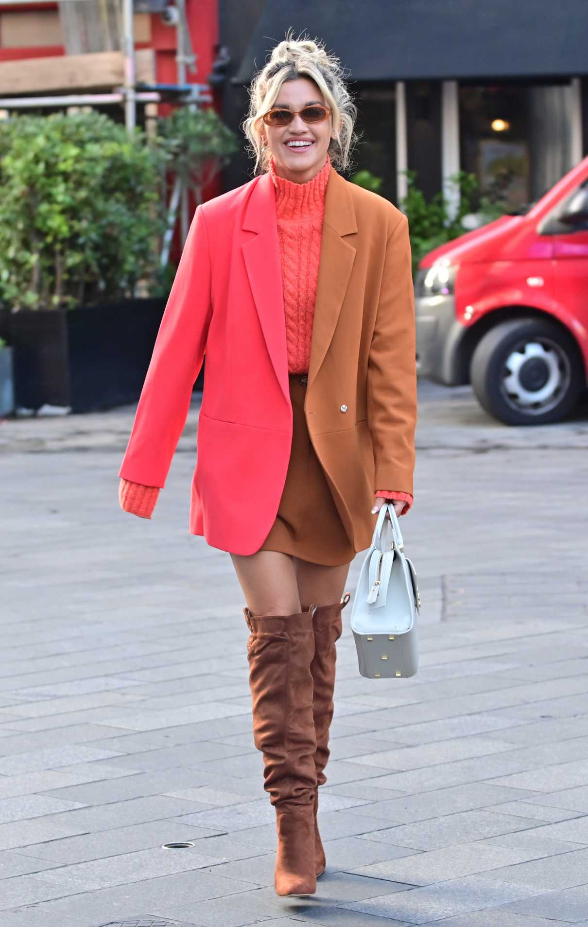 Ashley Roberts in a Two Toned Blazer