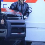 Hailey Bieber in a Black Leather Jacket Was Seen Out in Los Angeles 10/05/2021