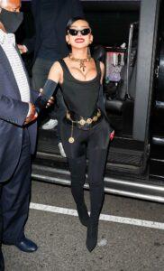 Nikita Dragun in a Black Outfit