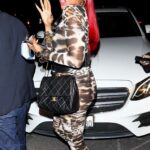 Taraji P. Henson in an Animal Print Catsuit Arrives at Cardi b's 29th Birthday Party in Los Angeles 10/11/2021