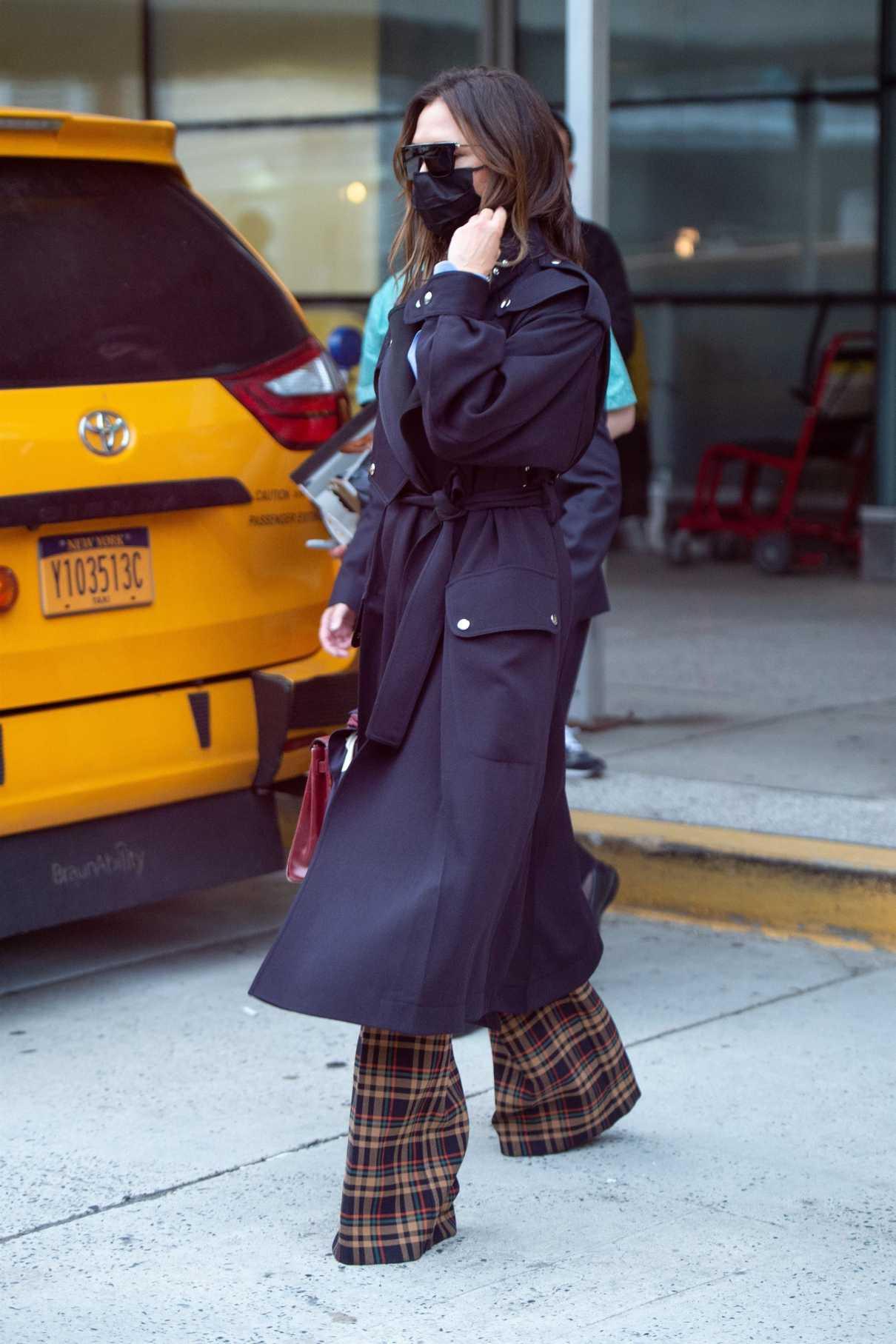 Victoria Beckham in a Plaid Pants