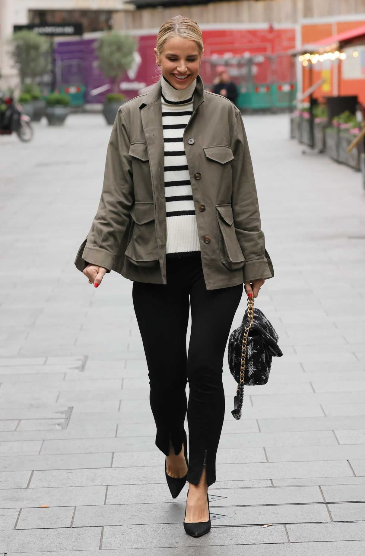 Vogue Williams in an Olive Jacket